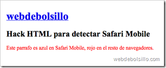 Hack safari mobile en Safari